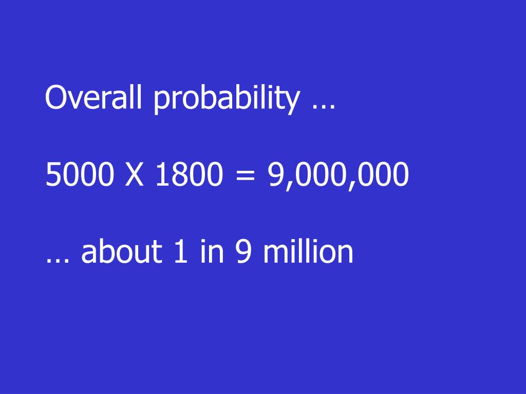Overall probability …