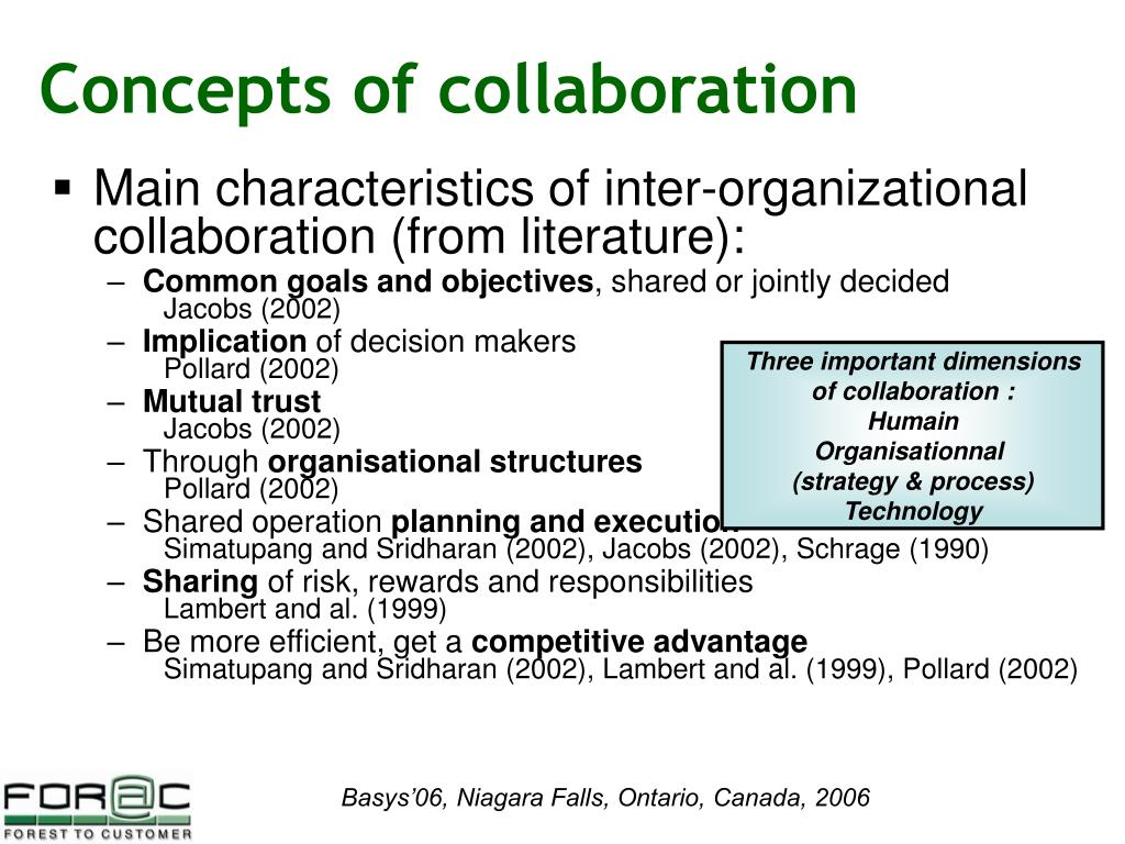 Concepts of collaboration