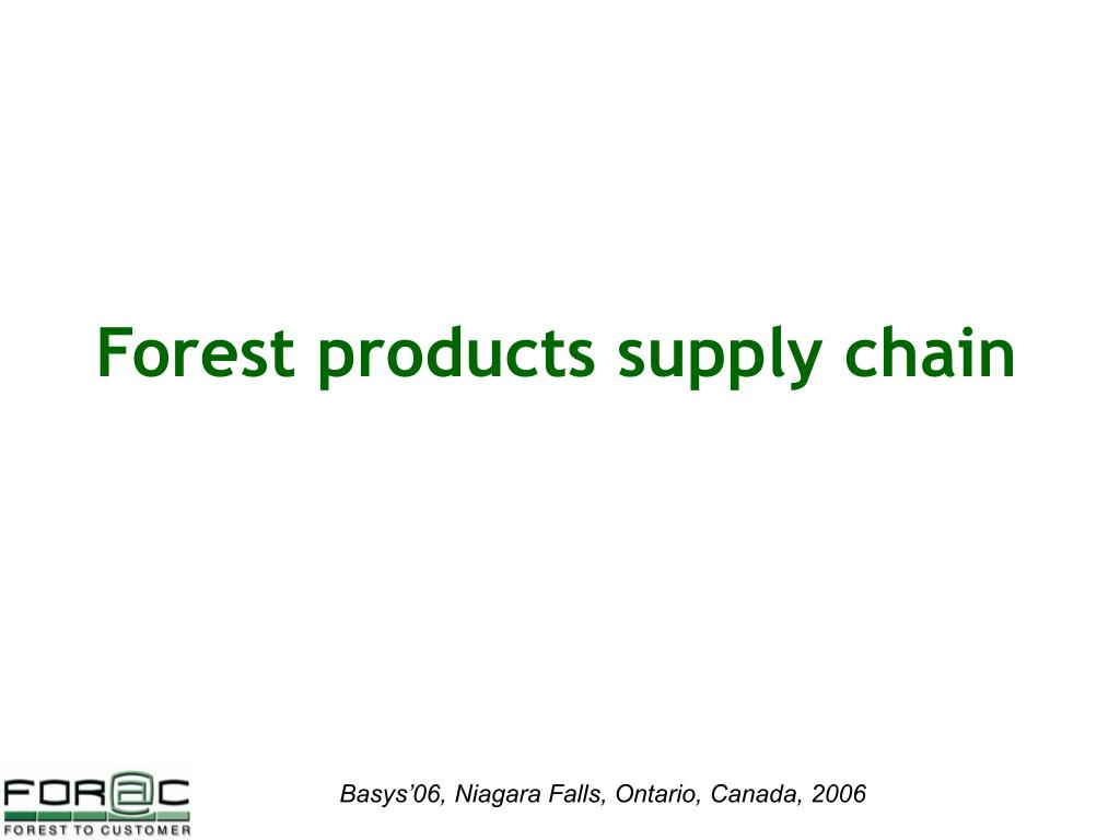 Forest products supply chain