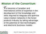 mission of the consortium