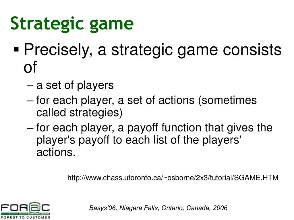 Strategic game