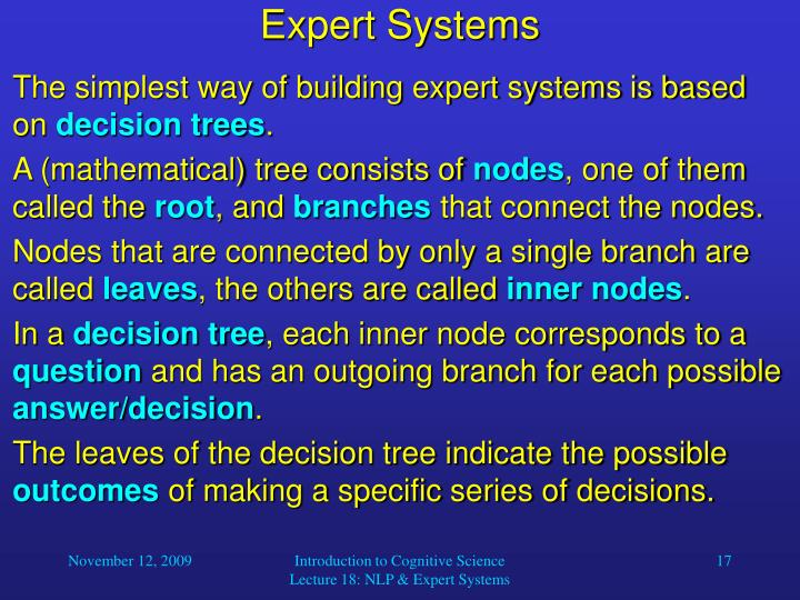 Expert Systems
