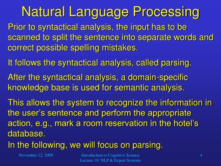 Natural Language Processing