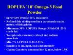 ropufa 10 omega 3 food powder