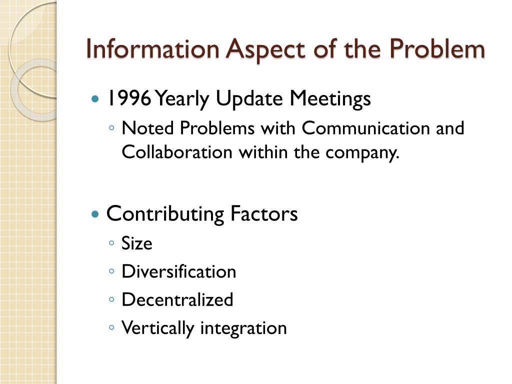Information Aspect of the Problem