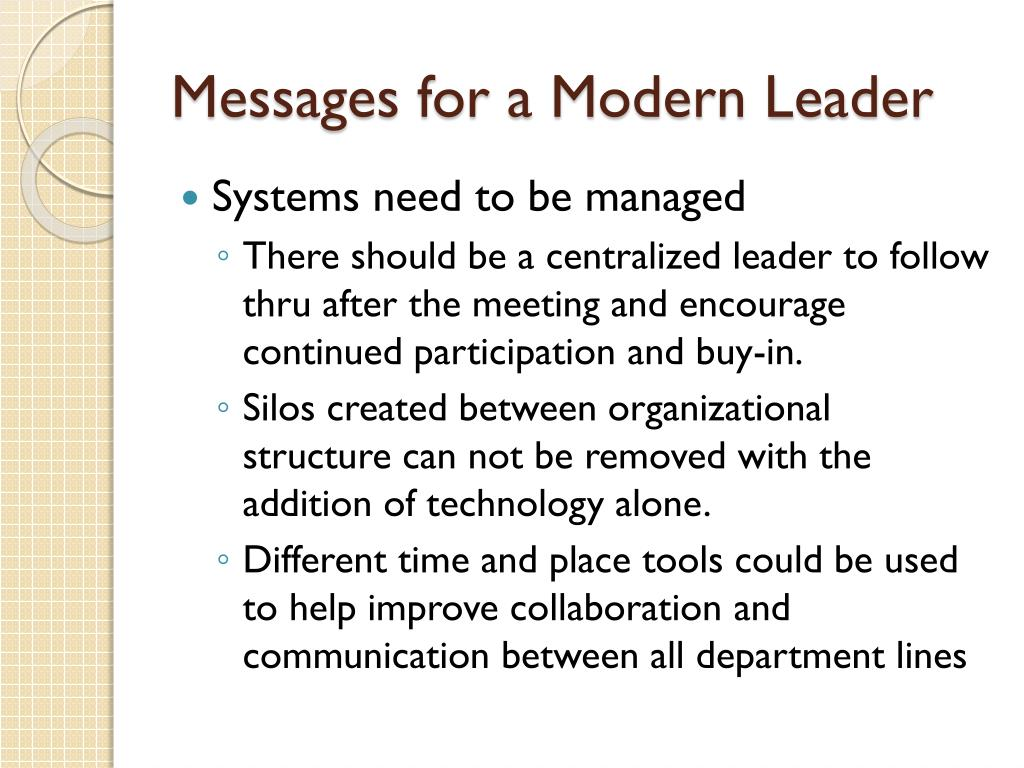 Messages for a Modern Leader