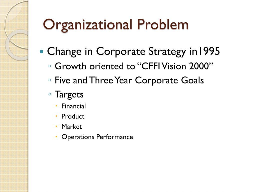 Organizational Problem