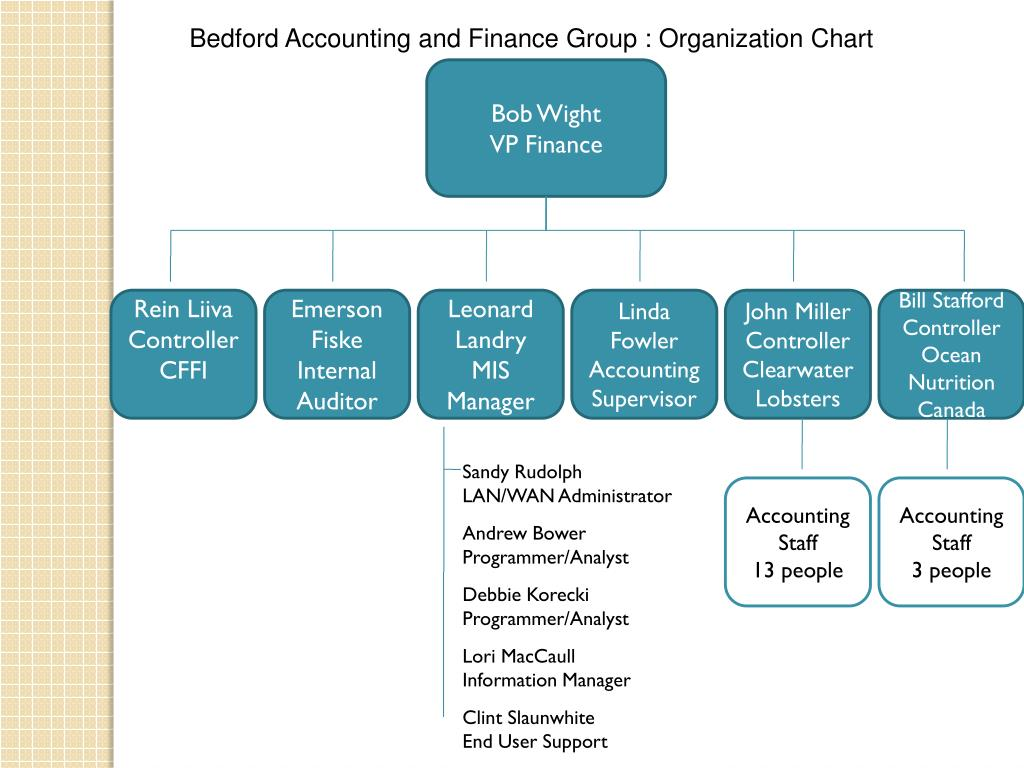 Bedford Accounting and Finance Group : Organization Chart