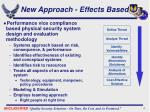 new approach effects based
