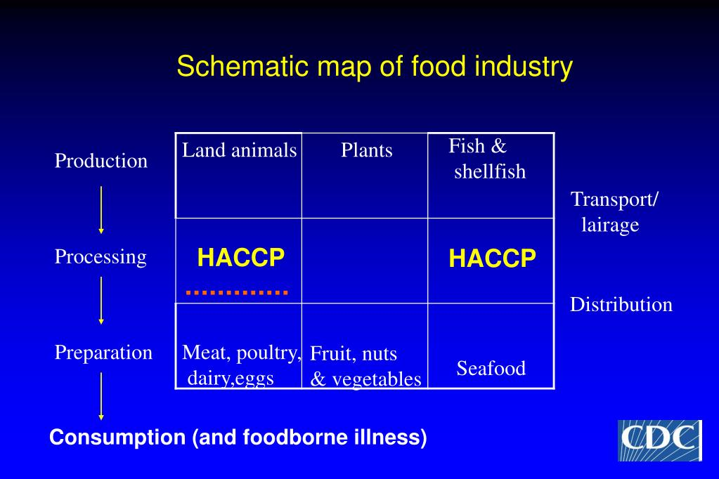 Schematic map of food industry