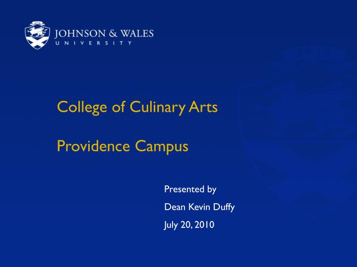 College of culinary arts providence campus