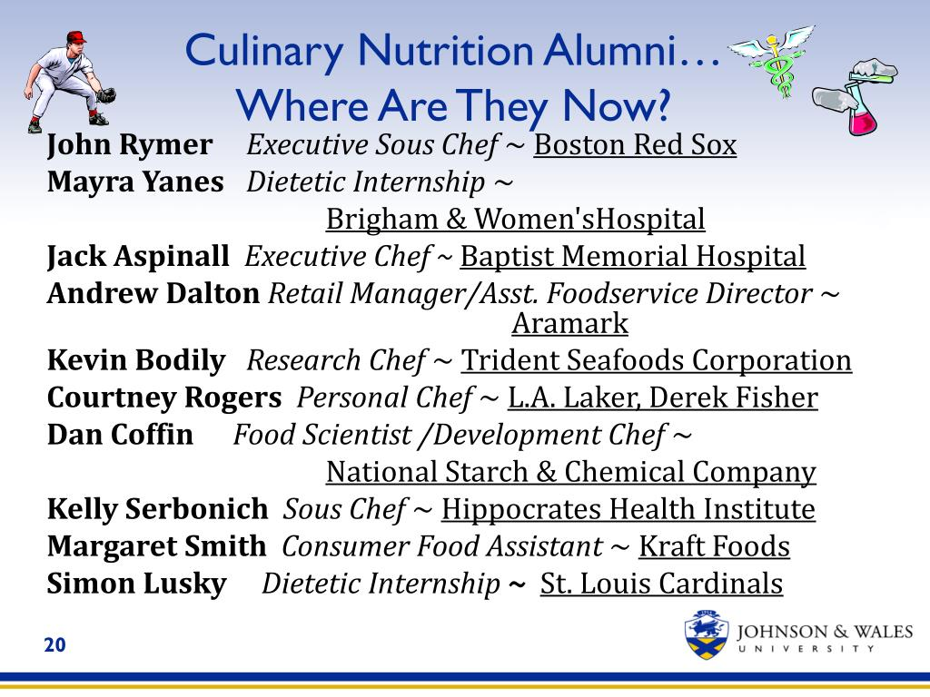 Culinary Nutrition Alumni…