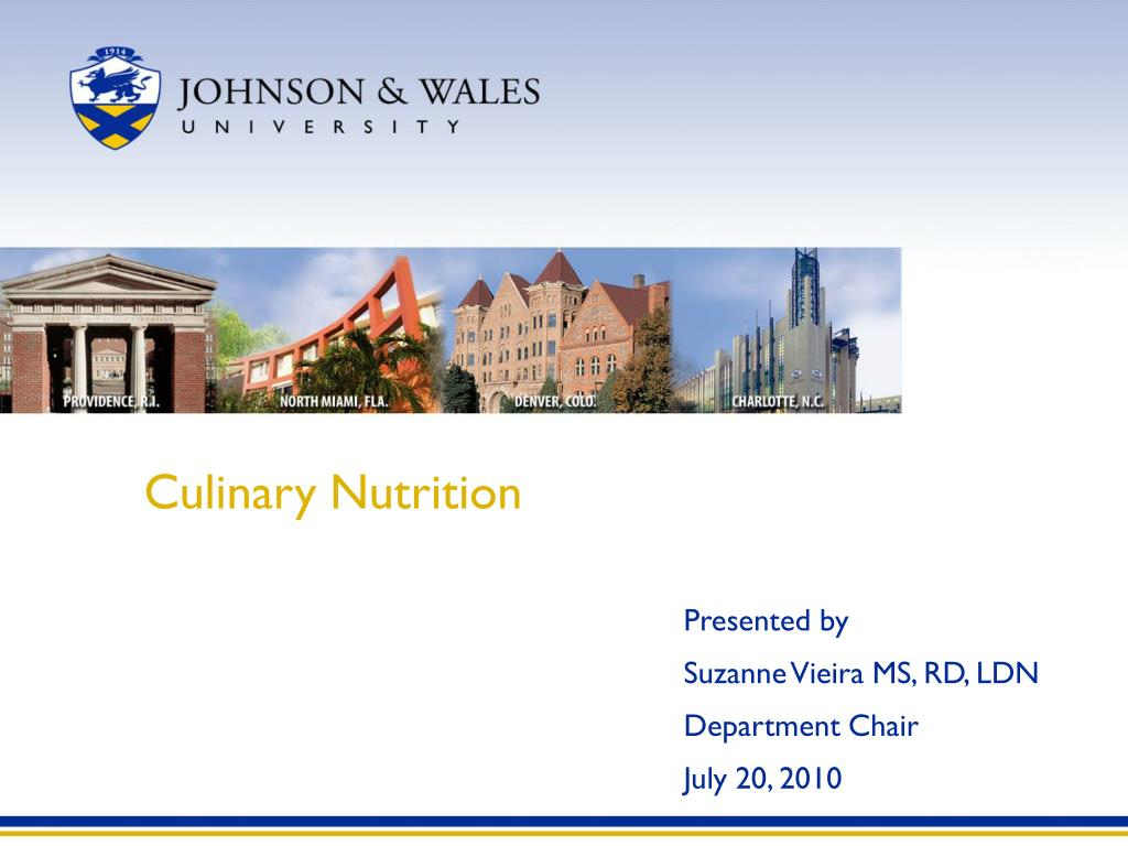 Culinary Nutrition