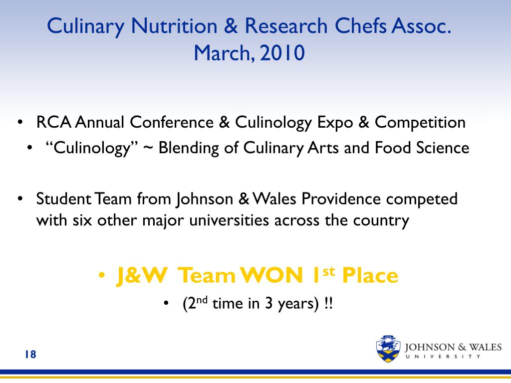 Culinary Nutrition & Research Chefs Assoc.
