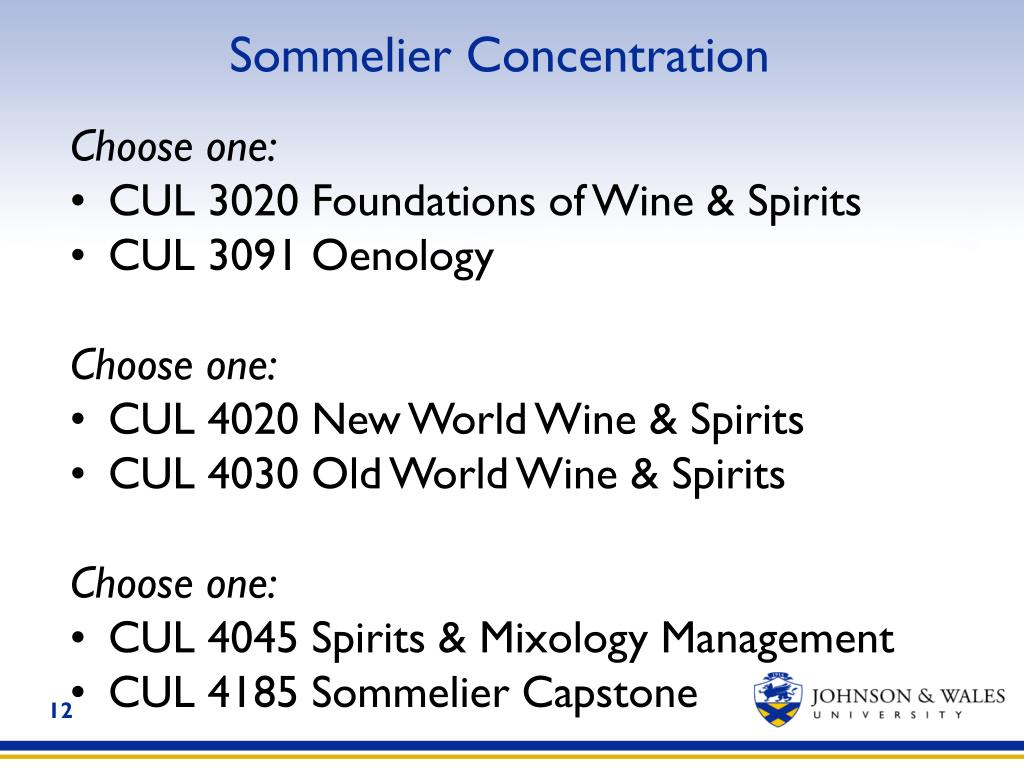 Sommelier Concentration