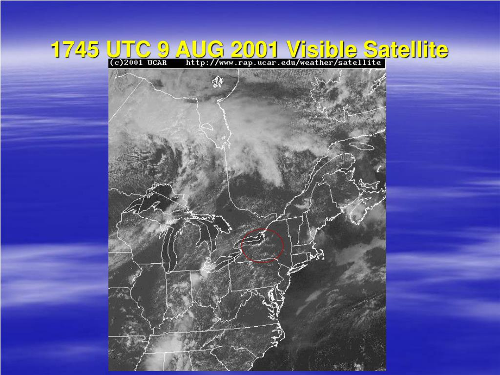 1745 UTC 9 AUG 2001 Visible Satellite