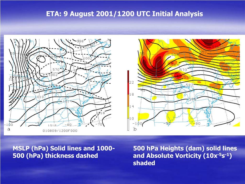 ETA: 9 August 2001/1200 UTC Initial Analysis