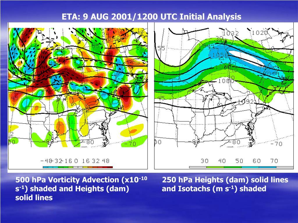 ETA: 9 AUG 2001/1200 UTC Initial Analysis