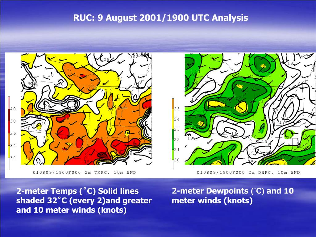 RUC: 9 August 2001/1900 UTC Analysis