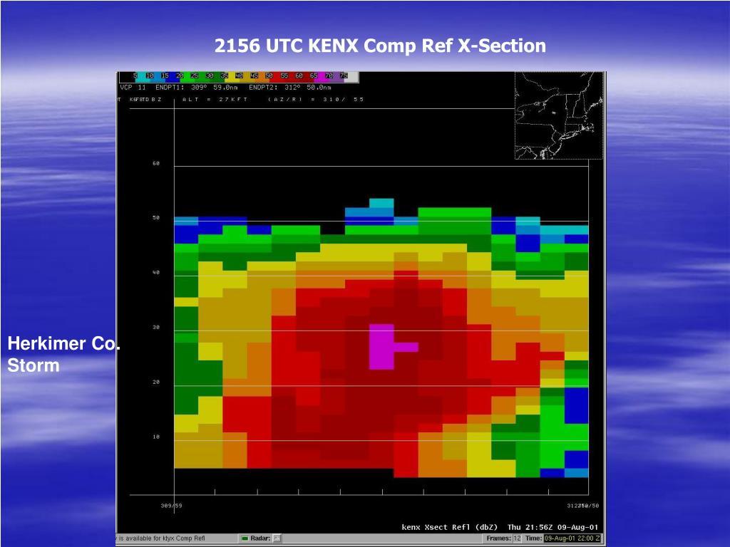2156 UTC KENX Comp Ref X-Section