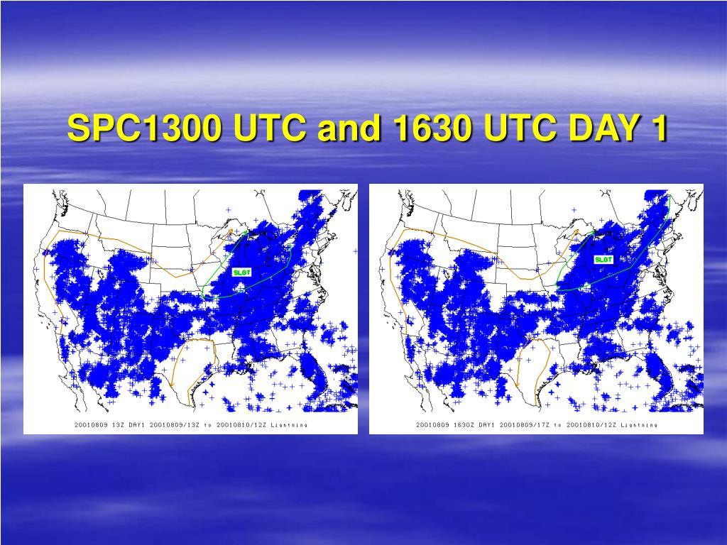 SPC1300 UTC and 1630 UTC DAY 1