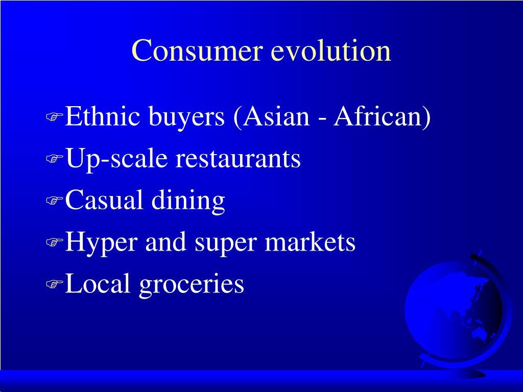 Consumer evolution
