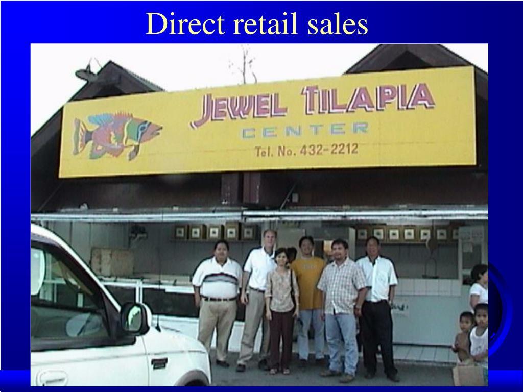 Direct retail sales