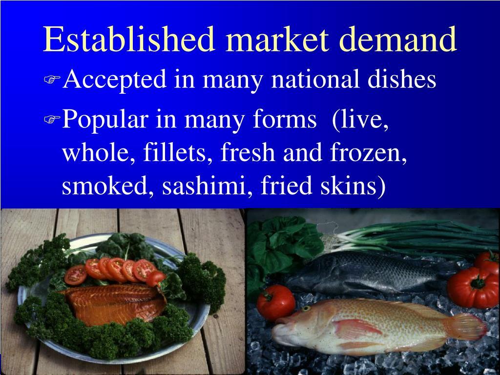 Established market demand