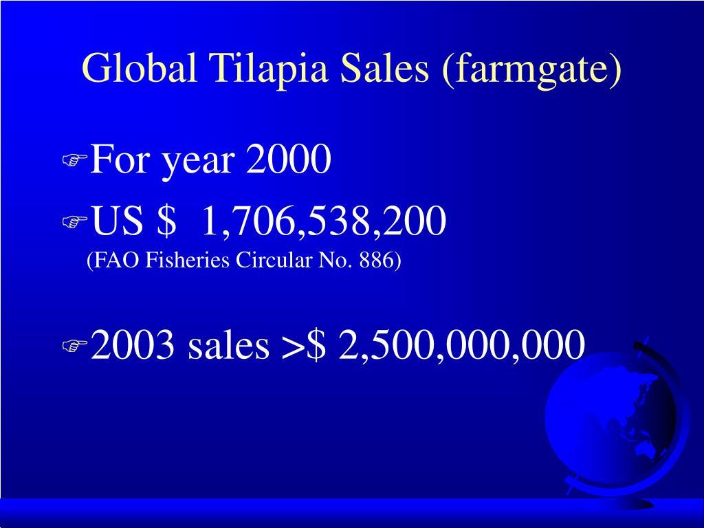 Global Tilapia Sales (farmgate)