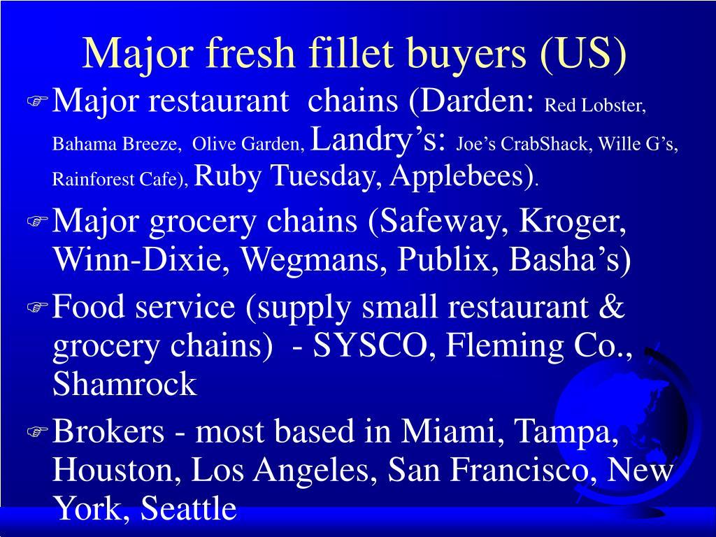 Major fresh fillet buyers (US)