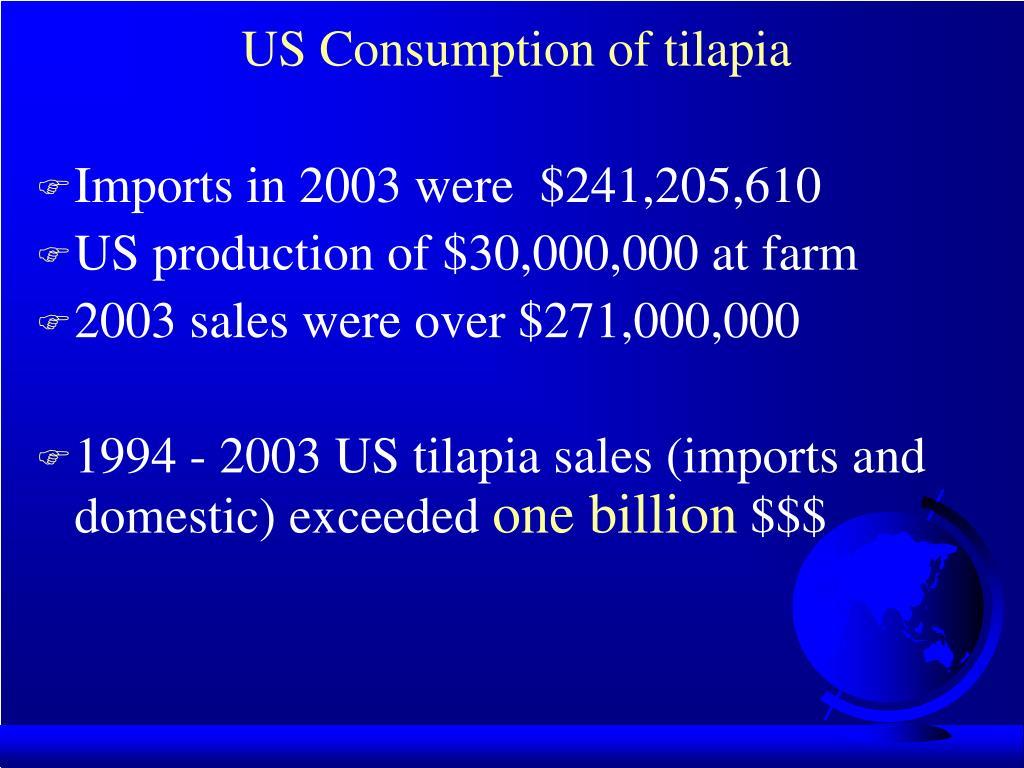 US Consumption of tilapia