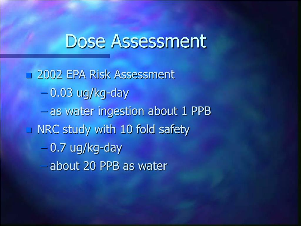 Dose Assessment