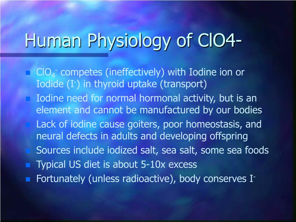 Human Physiology of ClO4-
