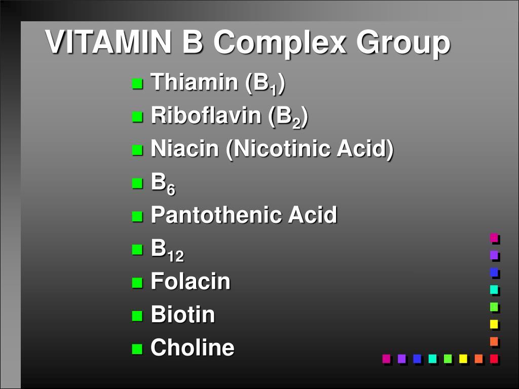 VITAMIN B Complex Group
