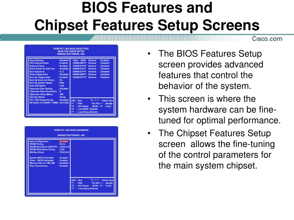 BIOS Features and