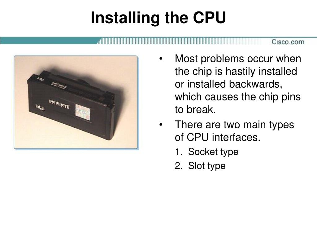 Installing the CPU