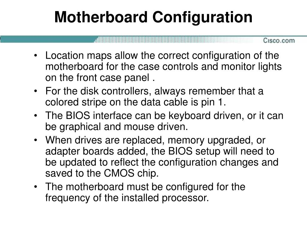 Motherboard Configuration