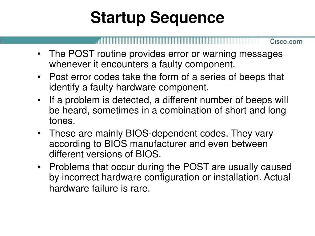 Startup Sequence