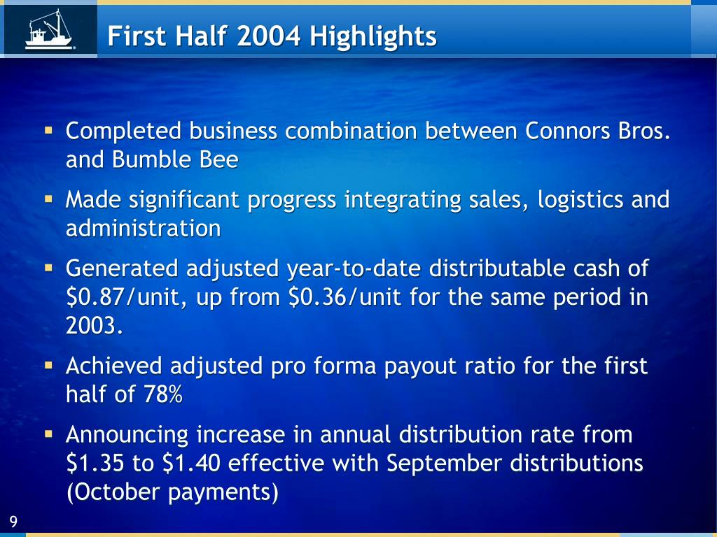 First Half 2004 Highlights