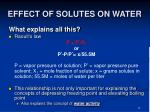 effect of solutes on water23