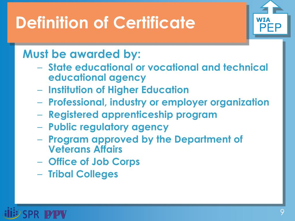 Definition of Certificate