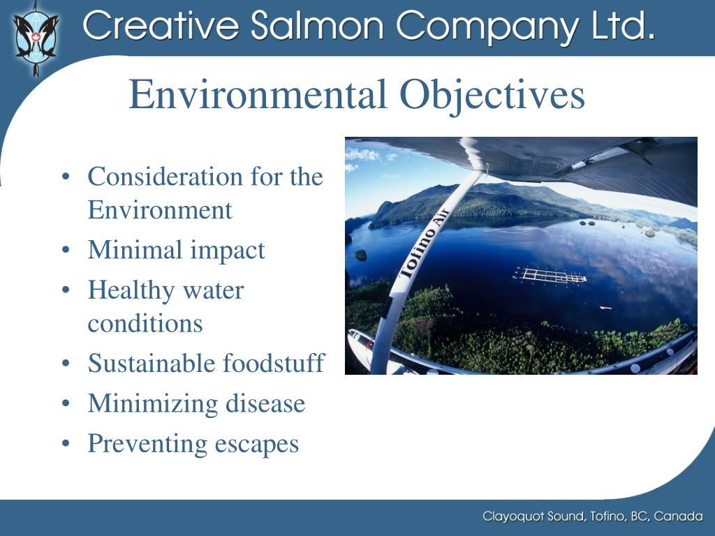 Environmental Objectives