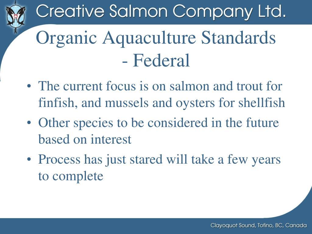 Organic Aquaculture Standards