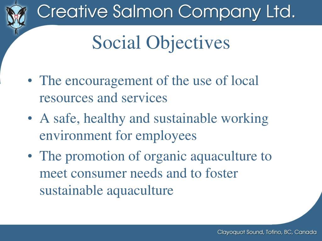 Social Objectives