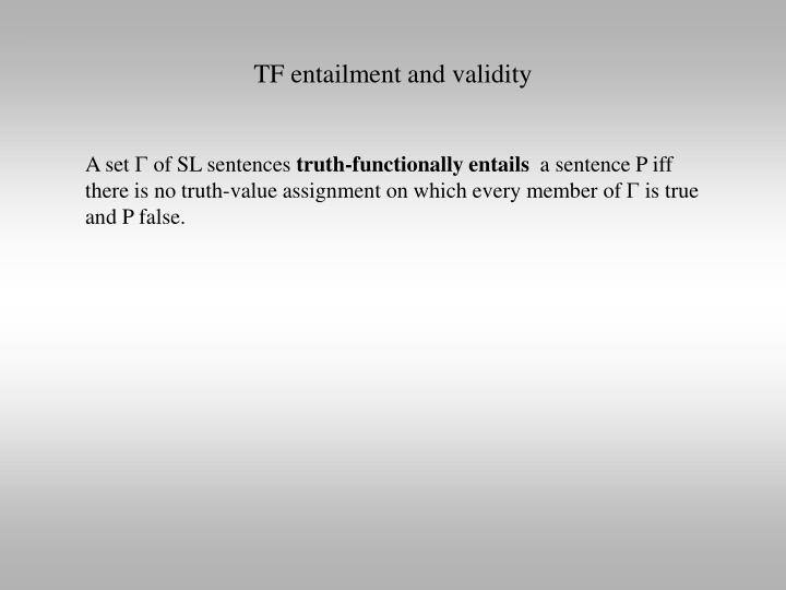 TF entailment and validity