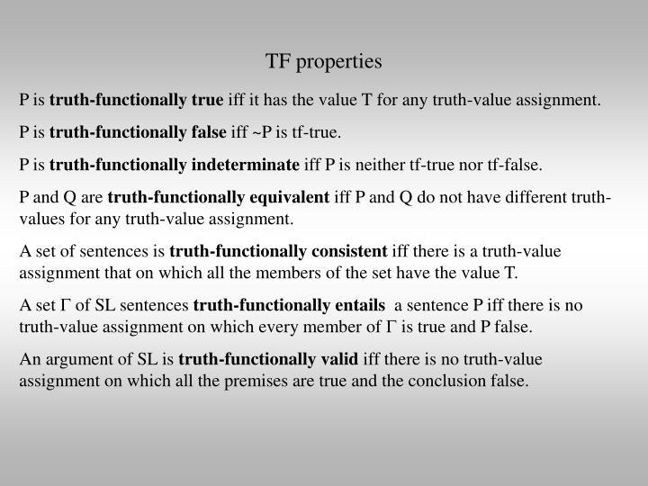 TF properties