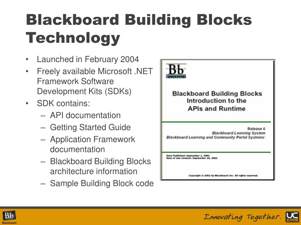 Blackboard Building Blocks Technology