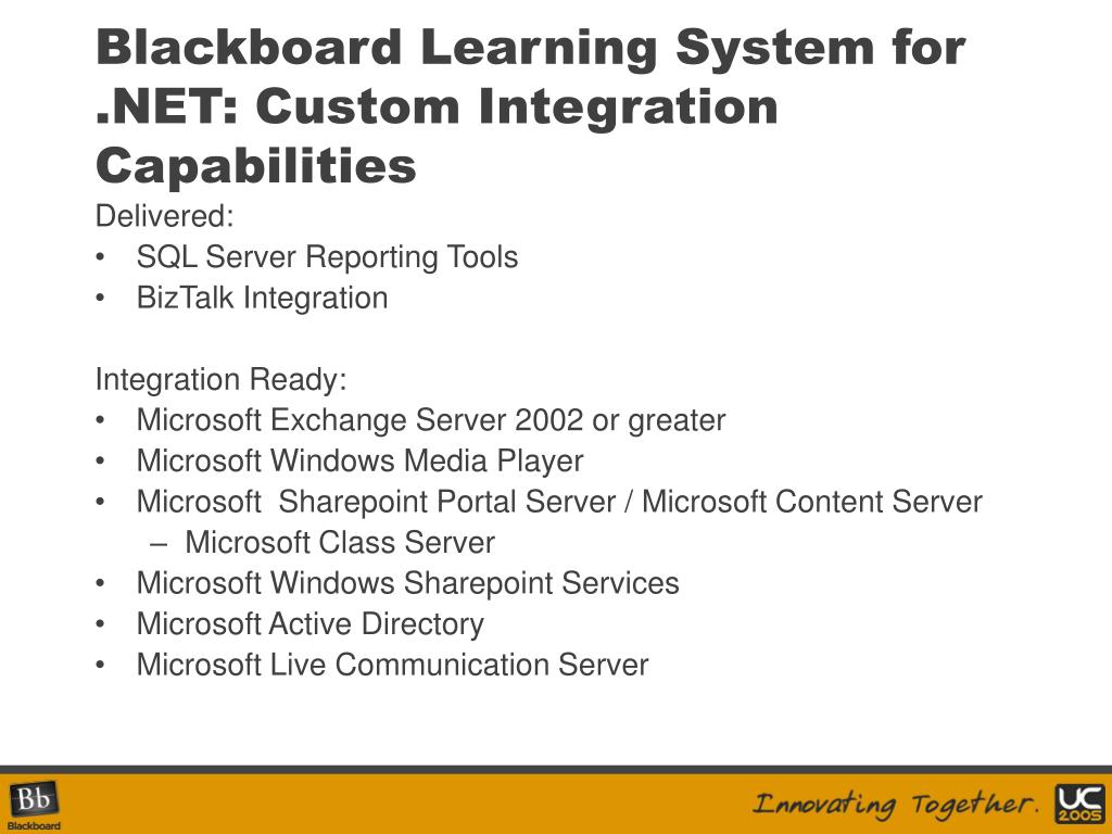 Blackboard Learning System for .NET: Custom Integration Capabilities
