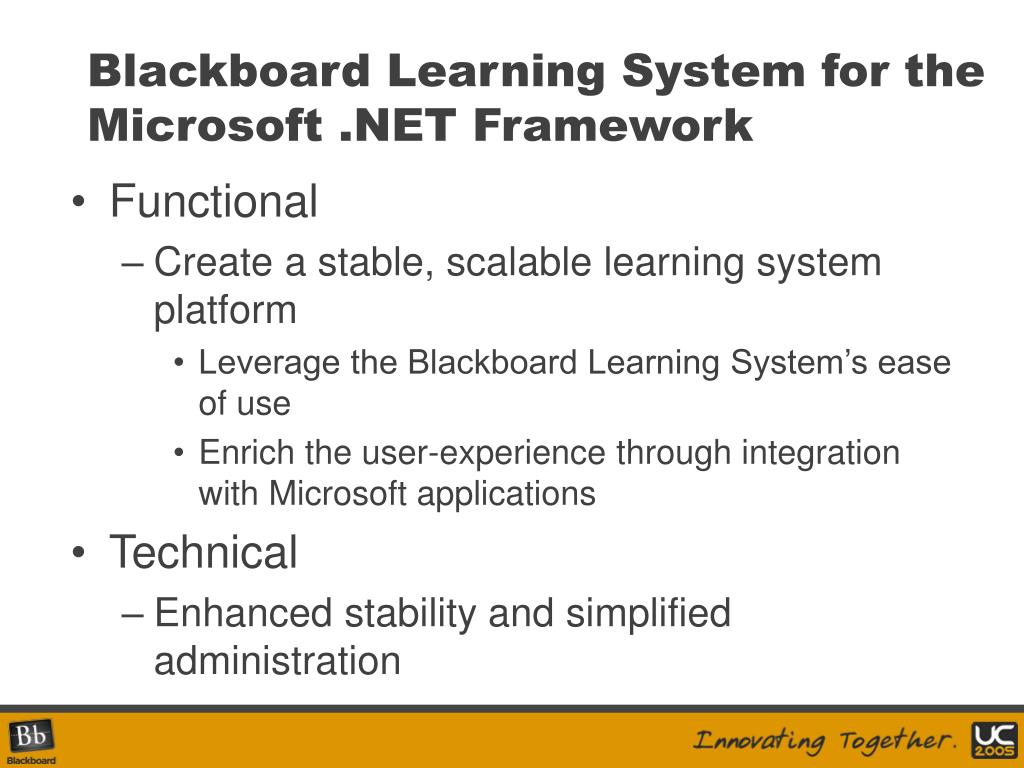 Blackboard Learning System for the