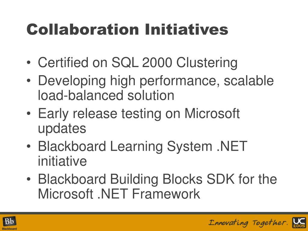 Collaboration Initiatives